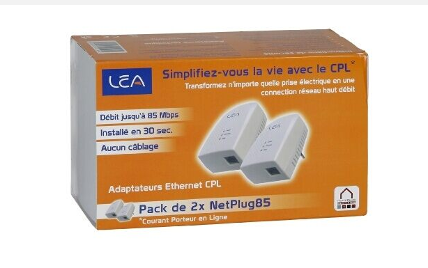 Kit 2 Adapatateurs CPL 85mbps