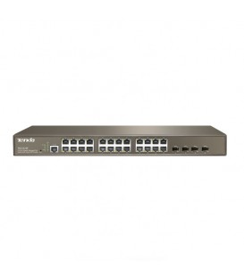 24-Port Gigabit Managed PoE Switch with 4-Port SFP - Tenda